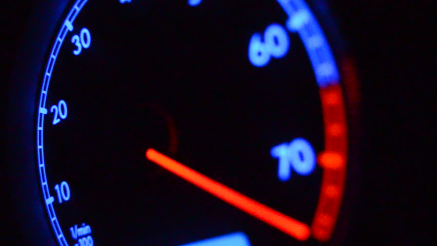 Tachometer close up