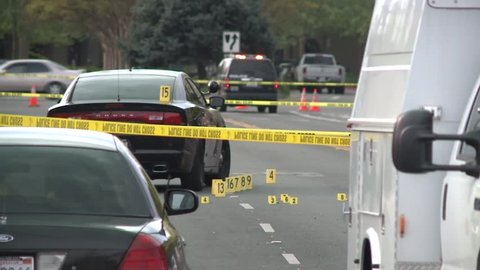 UNIDENTIFIABLE EVIDENCE POLICE MARKERS TAPE AND CRIME HD 1080 HIGH DEFINITION 1920X1080