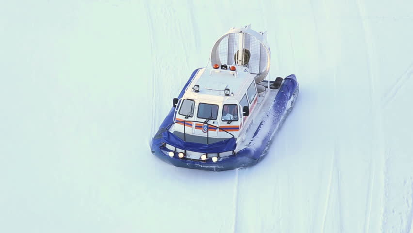 Hovercraft in Moscow river