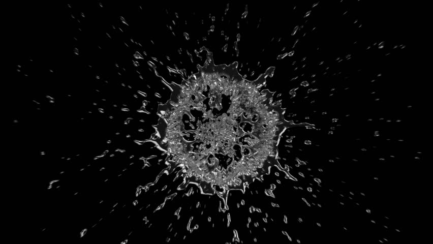 Two shots of water splashing in slow motion. Black background. Alpha matte included. SEE MORE OPTIONS IN MY PORTFOLIO.