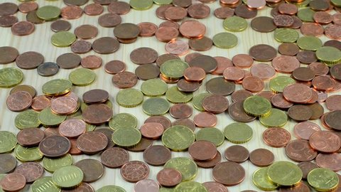 Lots of Euro - coins
