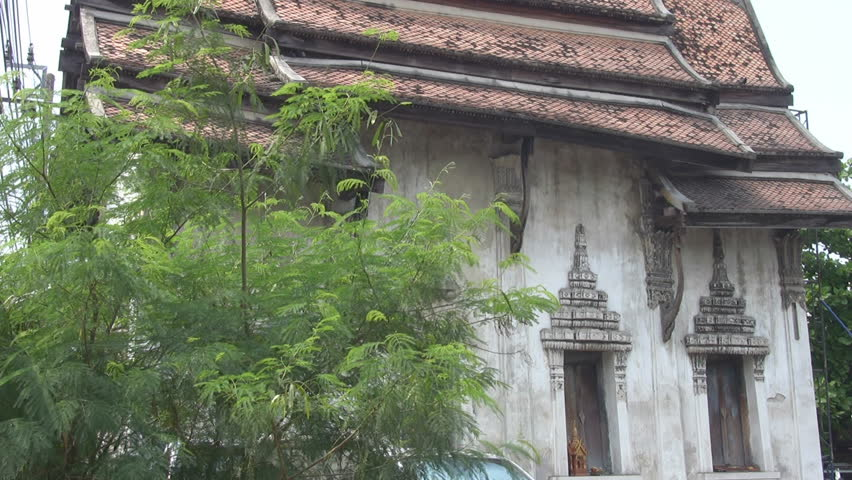 Bangkok, Thailand - circa 2012: An Ancient Building in Bangkok p124