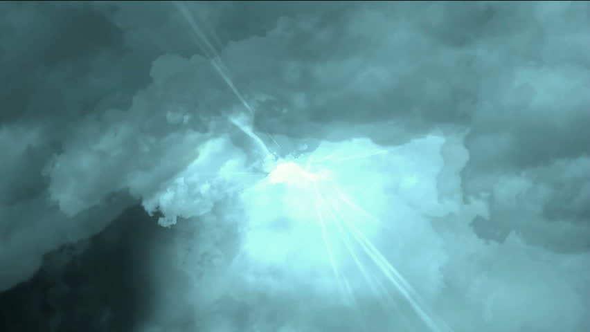 fast through storm clouds & dazzling lightning in universe space,electronic energy field.