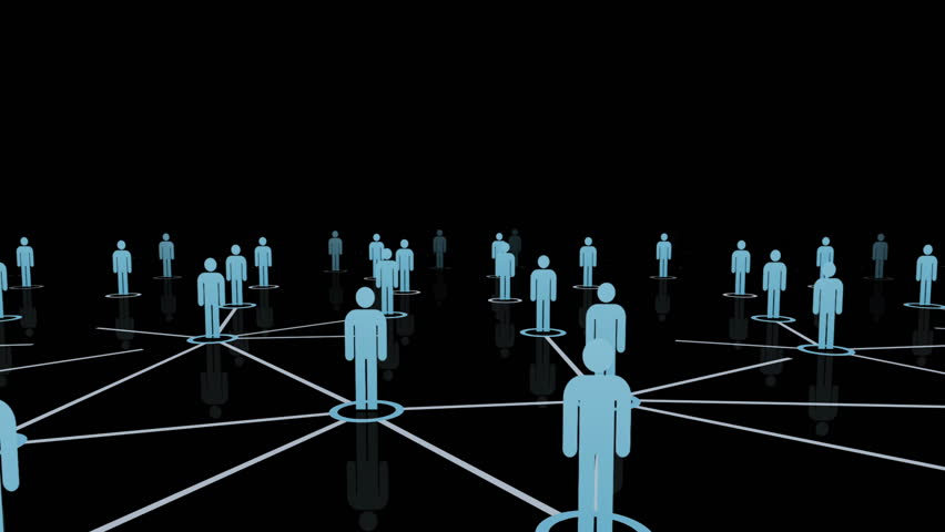 Visualization Of A Social Network, Black Background Stock ...