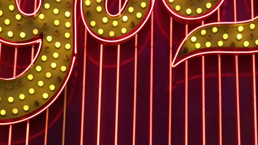Neon Las Vegas sign   Shutterstock HD Video #3873296