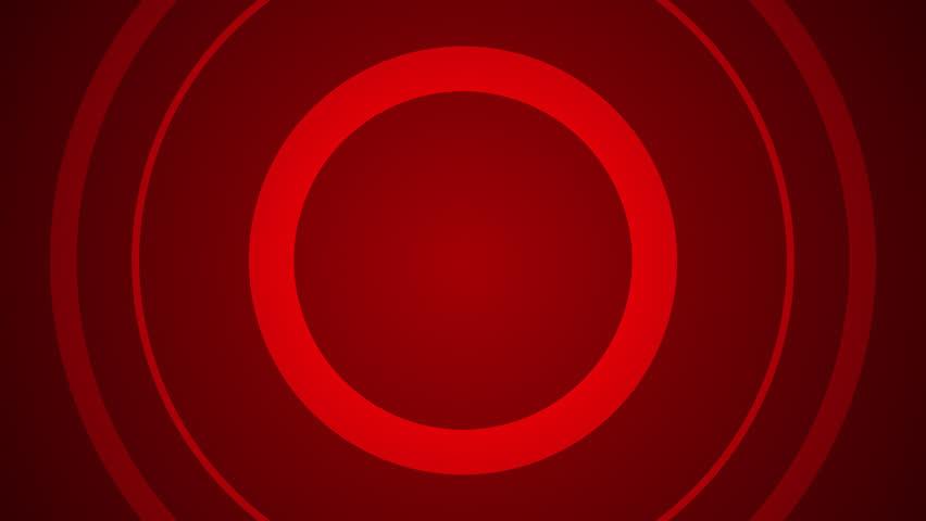 Red Expanding Target Rings Loop