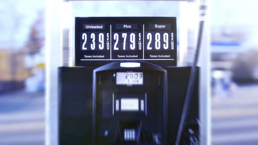 Animated Fuel Pump Price Sign Wide Angle | Shutterstock HD Video #3896429