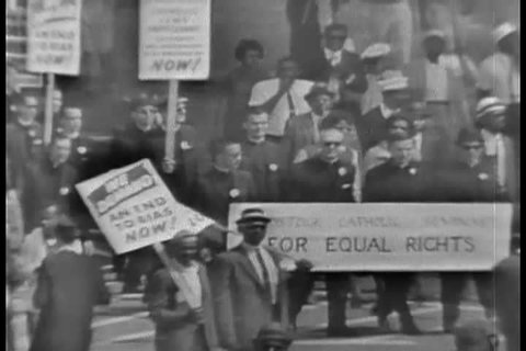 1960s - The 1963 March on Washington civil rights rally.