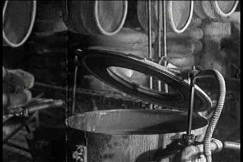 1930s - Inside a tire factory in 1936.