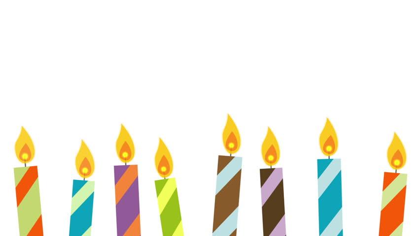 Image Birthday Cake With Burning Candles Animated