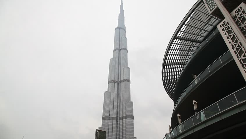 DUBAI, UAE. - MARCH 25 : Burj Dubai - tallest building in the world, at 828m. on March 25, 2013 in Dubai, UAE.