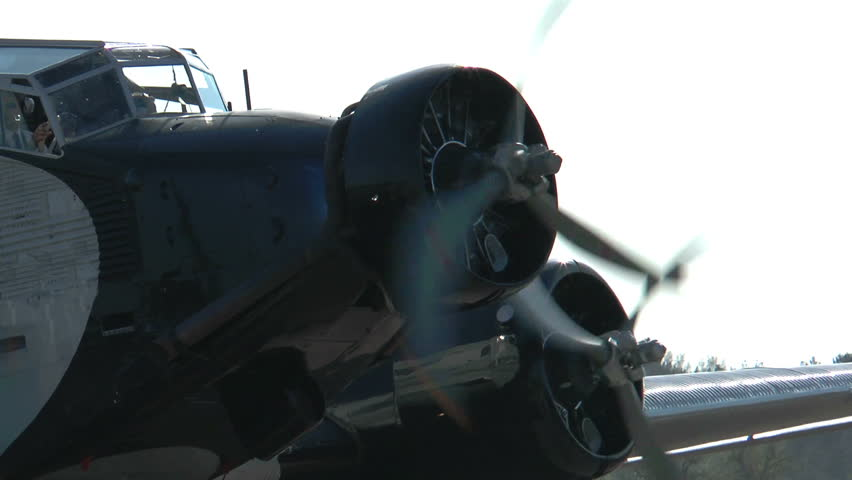 Historic Airplane Ju52 closeup