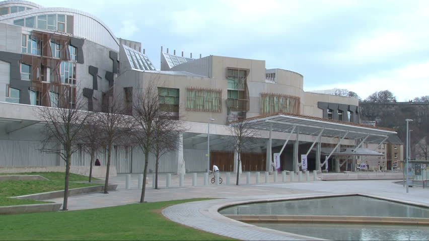 Edinburgh Scotland October 2017 Scottish Parliament Hd Stock Footage Clip