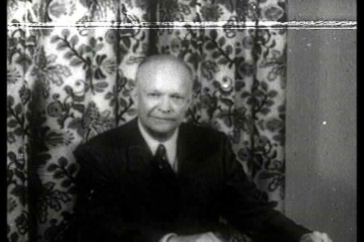 1950s - Dwight D. Eisenhower montage.