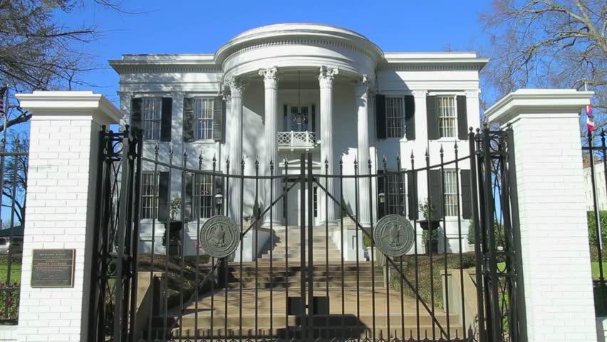 Jackson, Mississippi - February, 2013 - Mississippi Governor's Mansion.