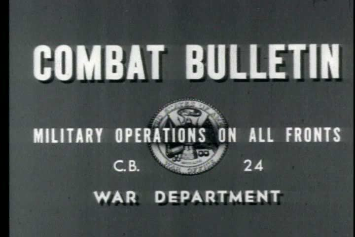 1940s - Combat Bulletin No. 24: Channel Coast Activities; Ordnance Repairs; German Frontier Operations; Airborne Operations; Toulon Harbor Installations | Shutterstock HD Video #4026178