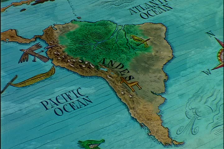 Animated Map of South America Stock Footage Video (100% Royalty ...