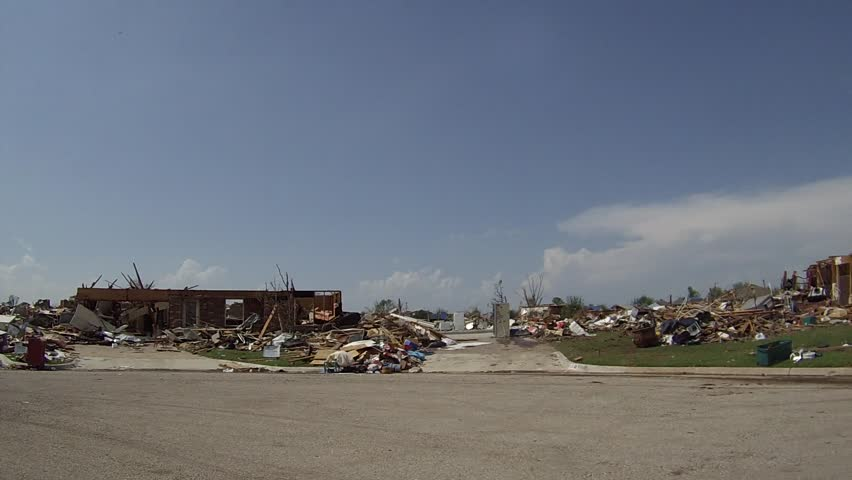 This is footage shot with a Go Pro Hero 3 of the devastation in Moore, Oklahoma.  Imagine standing in the middle of a neighborhood, and in every direction the houses are piles of ruble.  So sad.