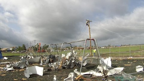 The Briarwood School playground was left a twisted mess after the EF5 tornado hit Moore, Oklahoma on May 20, 2013.