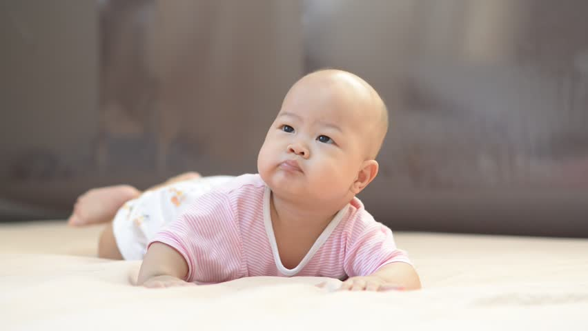 asian baby laugh clip video full HD 1920x1080.