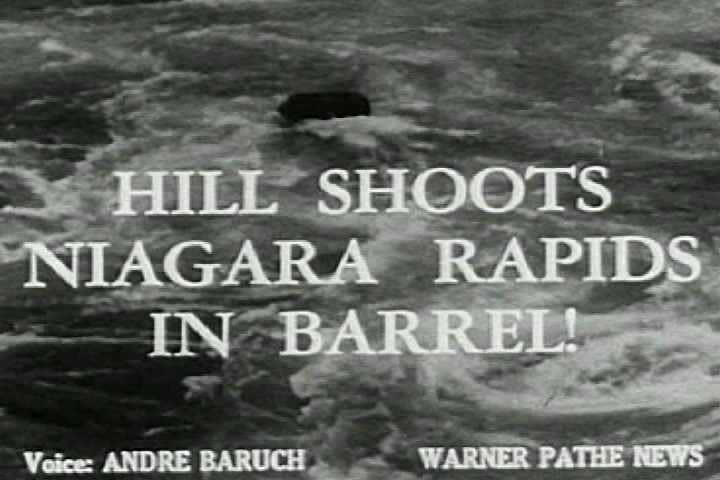 1940s - Newsreel story: Going over Niagara Falls in a barrel