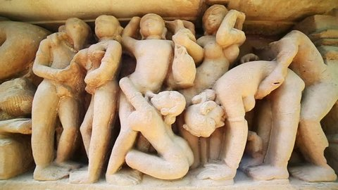 Group Sex Figures in Kama Sutra Temples in India
