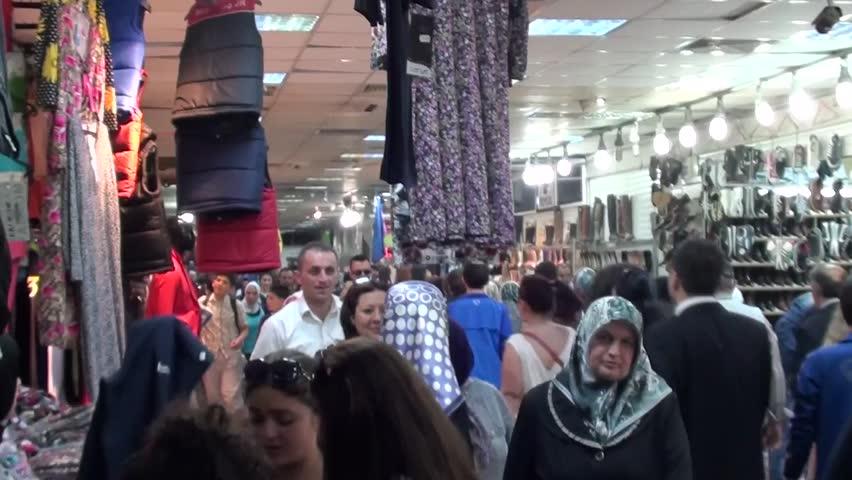 PENDIK, ISTANBUL, TURKEY – April 6, 2013 -- Shopping center at the underground passage   Shutterstock HD Video #4108798