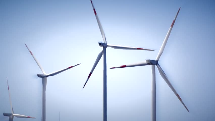 time lapse video of Wind Turbines