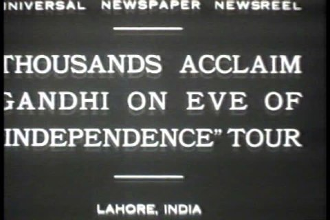 1920s - Black and white footage of the Indian Independence Movement in the 1920s