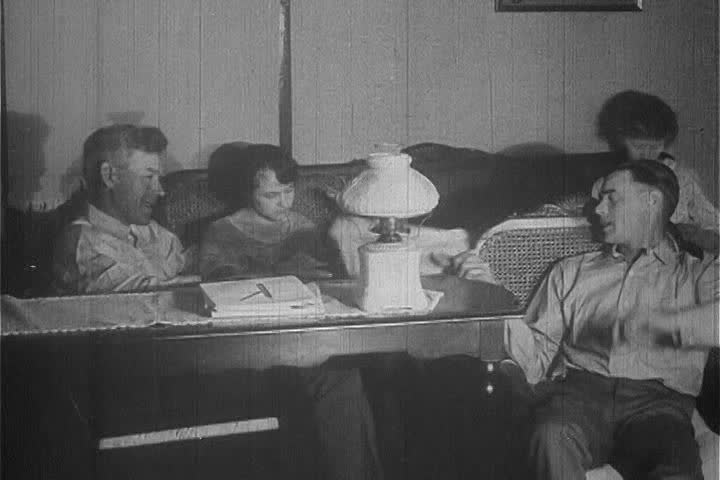 1920s - A 1920s silent film about a pig competition - SD stock footage clip