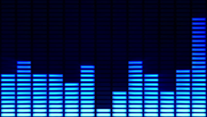 Audio equalizer background. Loopable. Multicolored. See more options in my portfolio.
