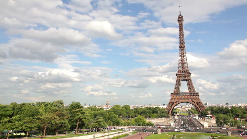 Eiffel Tower Footage Stock Clips