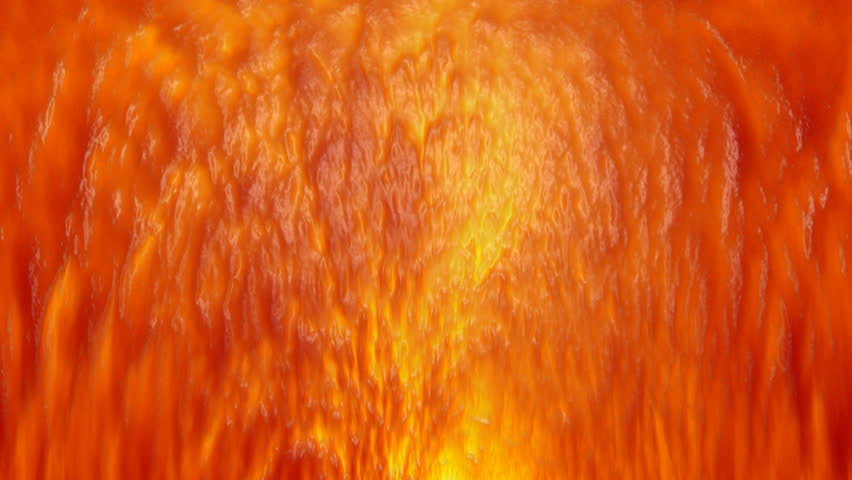 Flowing hot lava, time lapse clip
