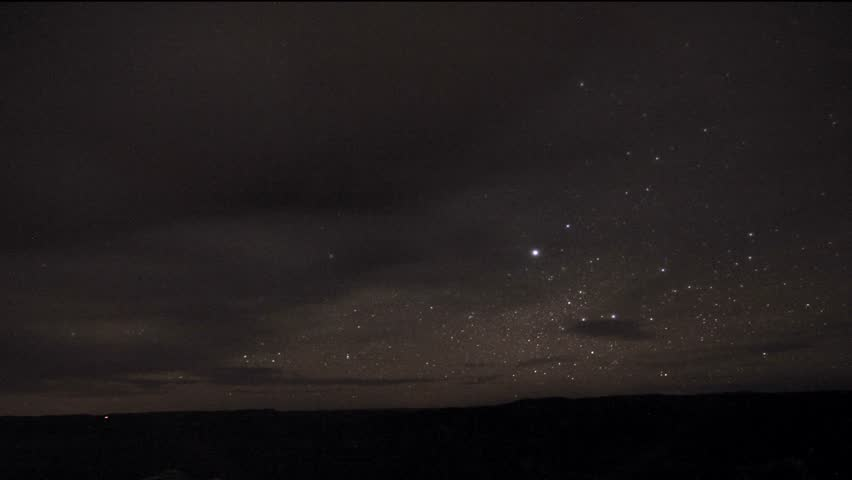 Time lapse of a starry-sky.
