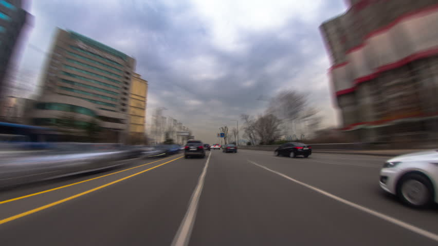 Seoul City Driving 2a) Driving time lapse of a gloomy day in Seoul, Korea. pov | Shutterstock HD Video #4228948