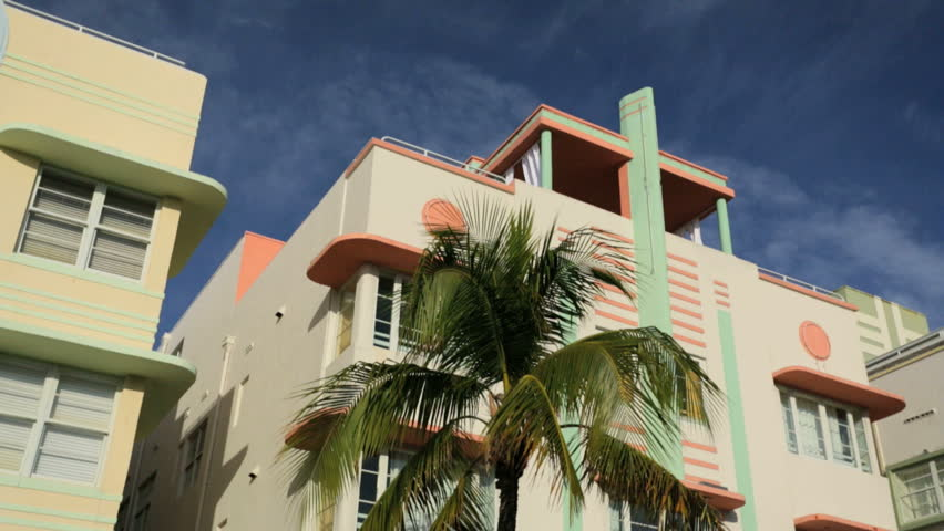 Colourful Art Deco hotels and condominiums on Ocean Drive South Beach Miami, Florida, USA #4231978