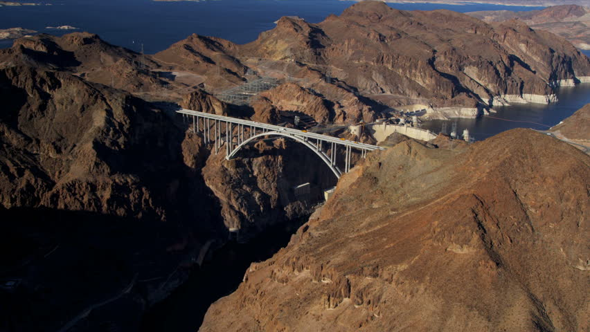 Stock Video Of Aerial View Hoover Dam Producing