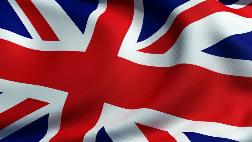 3d animation of an british flag closeup, highly detailed with fabric texture and sewing seams where each part is sewed together.