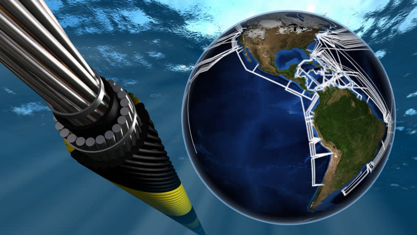 Stock video of submarine internet network map and fiber ...