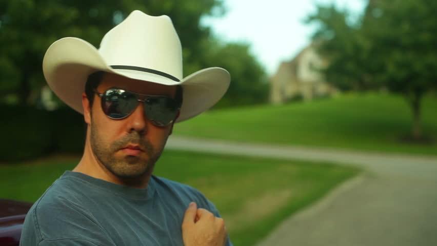 Southerner or cowboy outside.