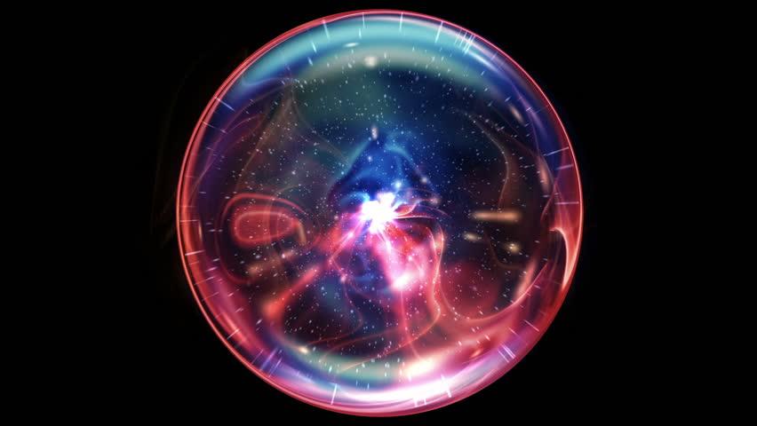 Beautiful Plasma Ball in Looped animation. HD 1080.