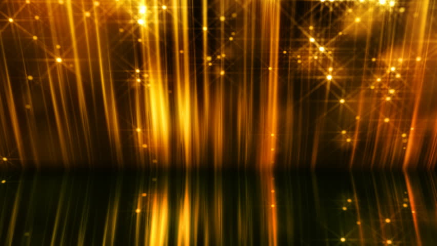 Abstract motion background in gold colors, shining lights, energy waves  and sparkling  particles, seamless looping. | Shutterstock HD Video #4406888