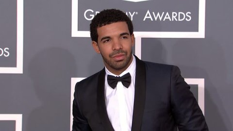 LOS ANGELES - February 10, 2013: Drake (rapper) at the Grammy Awards 2013 in the Staples Center in Los Angeles February 10, 2013
