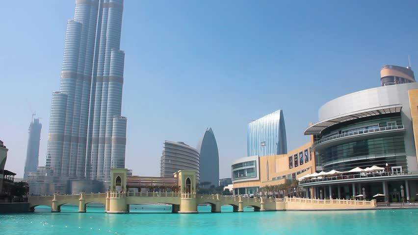 DUBAI, UAE, OCTOBER 16, 2011: Burj Khalifa - highest skyscraper in the world, Dubai, United Arab Emirates, October 16, 2011