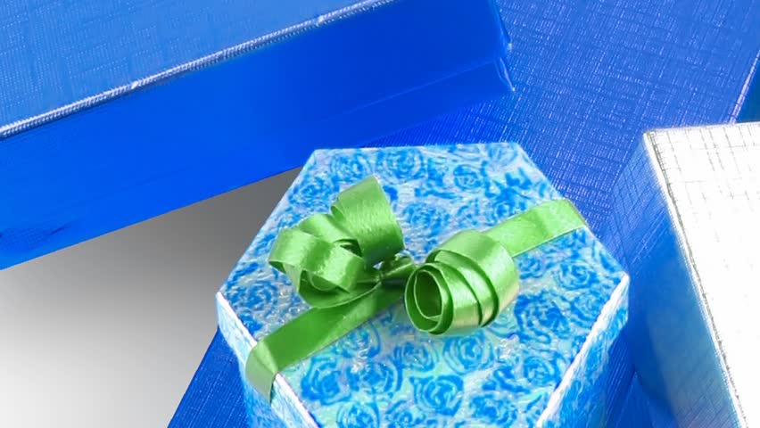 Different types of present boxes 1920x1080 intro motion slow hidef hd | Shutterstock HD Video #4490228