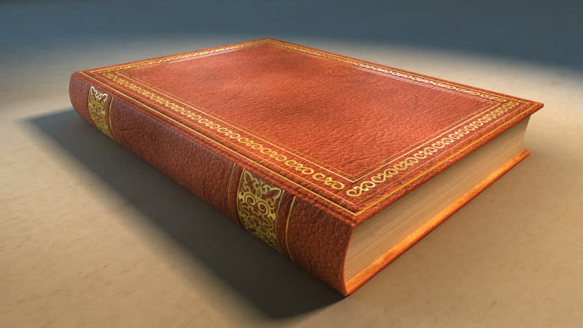 Animation Of A Book Opening, Turns Several Pages And Works As A ...