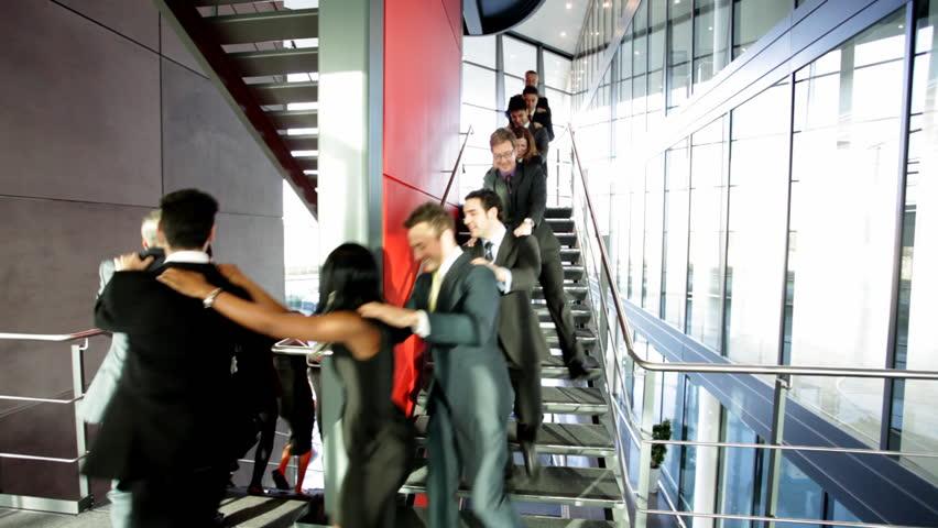 Business people inside a modern office building.   Shutterstock HD Video #4522808