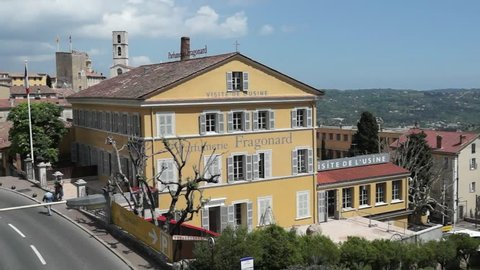 GRASSE, FRANCE - MAY 3: Parfumerie Fragonard Factory on May 3, 2013 in Grasse, France. Fragonard perfumery is one of the older factory in the world capital of perfumes.