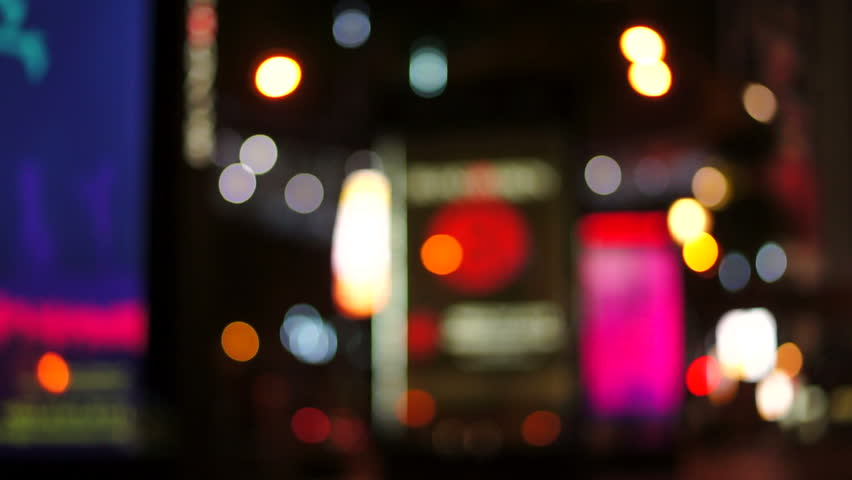 Night City Lights And Traffic Background Out Of Focus