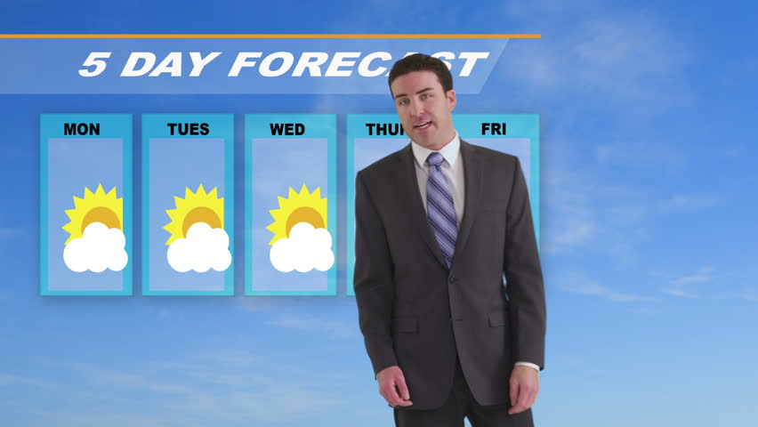 News weather man giving forecast | Shutterstock HD Video #4587908